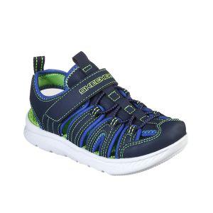 Skechers Chaussures sport à scratch et élastique Vert - Taille 33