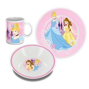 Set repas 3 pieces céramique Disney Princesses