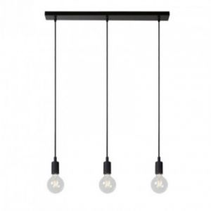 Lucide FIX-Suspension barre 3 lumières L75cm Noir