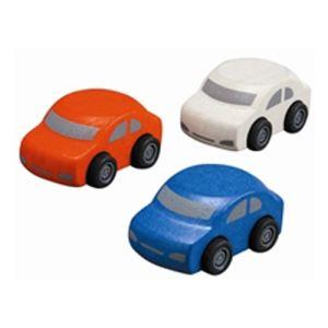 Plan Toys 3 petites voitures en bois