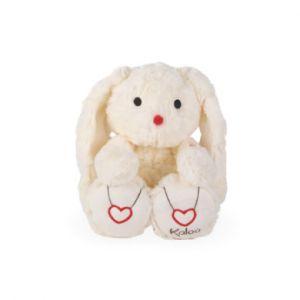 Kaloo Peluche lapin Rouge crème medium, 31 cm blanc