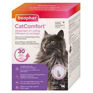 Beaphar Catcomfort, Diffuseur et recharge anti stress aux Phéromones - Chat - 1 prise et 1 recharge de 30 jours