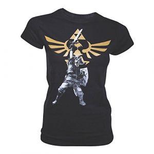 T-shirt 'The Legend of Zelda' - Logo Girl - Taille L