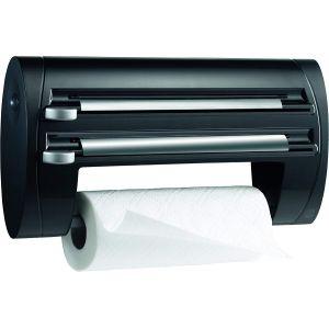 Emsa 509247 Dérouleur triple coupe-film, papier d'aluminium, essuie-tout superline