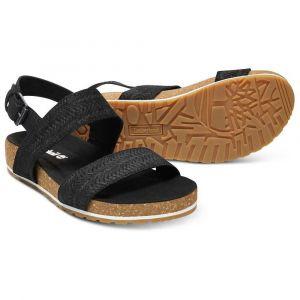 Timberland Women´s Malibu Waves 2-Band Sandal - Sandales de marche taille 6, noir