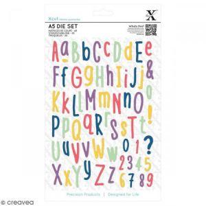 Docrafts Matrices de coupe - Alphabet Folk - A5 - 66 pcs