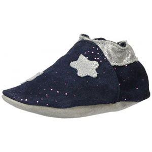 Robeez Moonlight, Chaussures de Naissance Mixte bébé, Bleu (Marine Gris 103), 17/18 EU
