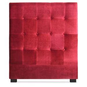 Tête de lit Luxor 90cm Velours Rouge Couleur - Rouge