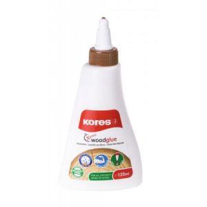Kores K75725 - Colle à bois blanche, fluide, 125ml