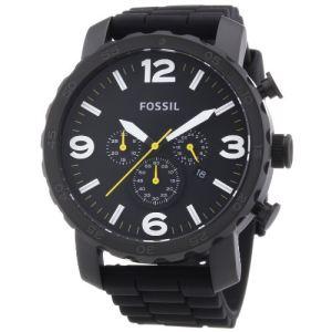 Fossil JR1425 - Montre pour homme Quartz Chronographe bracelet en silicone Nate