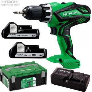 Hitachi DS18DJL - Perceuse visseuse 2x18V 1,5Ah Li-ion en coffret Systainer