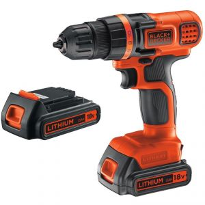 Black & Decker EGBL18B - Perceuse visseuse sans fil 18V + 2x accus