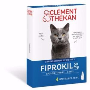 Clément Thékan Fiprokil Chat - Anti-puces 4 pipette 0.50 ml