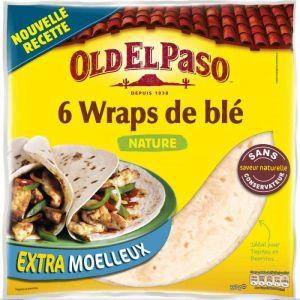Old el paso Wraps, tortillas de blé souples nature