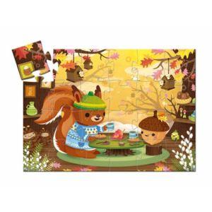 Djeco Puzzle Silhouette : Le goûter de l'écureuil