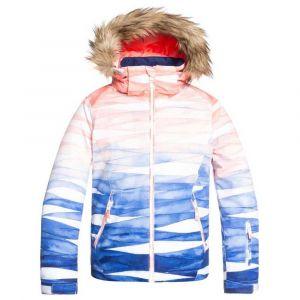 Roxy Jet Girl-Veste de Ski/Snowboardpour Fille 8-16 Ans Snowboard, Mid Denim Yumi Yamada Print, FR : L (Taille Fabricant : 12/L)