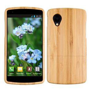 Kwmobile 17400.01 - Coque en Bambou véritable pour Lg Nexus 5