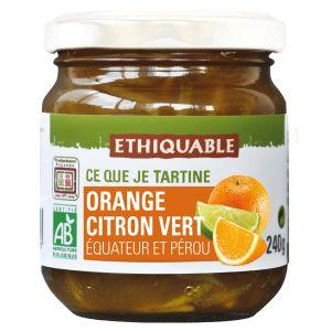 Ethiquable Confiture orange citron vert BIO 240g