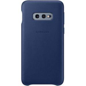 Samsung Coque S10E Cuir bleu marine