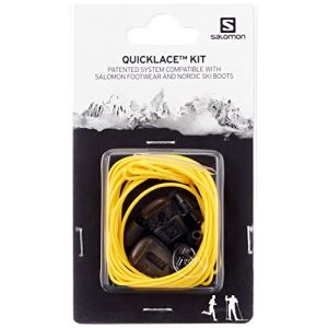 Salomon Unisexe QUICKLACE KIT, Lacets, Jaune, L32667500