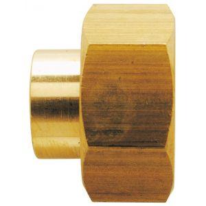 Raccord droit à joint plat Raccords - Filetage 15 x 21 mm - Diamètre 12 mm - Vendu par 10