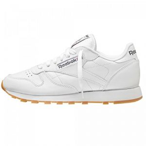 Reebok Classic Leather, Sneakers Basses Homme - Blanc (White/Gum) - 46 EU (Taille Fabricant : 11.5 UK)