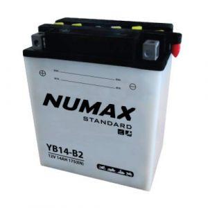 Numax Batterie moto Standard avec pack acide YB14-B2 12V 14Ah 175A