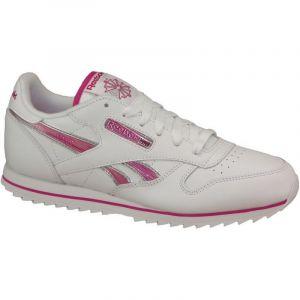 Reebok Cl LTHR Ripple III, Sneakers Basses Mixte Enfant, Blanc