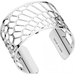 Les Georgettes Bracelet Nid d'abeille Argent Large