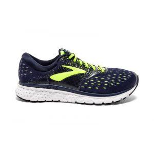 Brooks Chaussures running Glycerin 16 Standard - Black / Lime / Blue - Taille EU 47 1/2