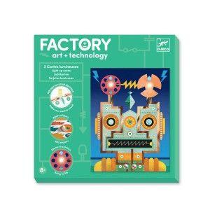 Djeco Factory E-paper 2 Tableaux à illuminer Cyborgs