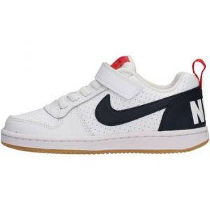 Nike Chaussures de sport Court Borough Low PSV à lacets et scratch Blanc - Taille 29,5