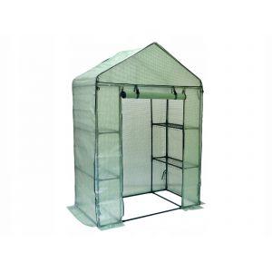 FLORAX | Serre de jardin souple 4 étagères 200x140x73 | Abri de Jardin avec Bâc 140 gr/m² | Serre plastique à tomates jardinage | Vert TROUV