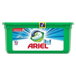 Ariel 25 doses de lessive Pods Alpine 3 en 1