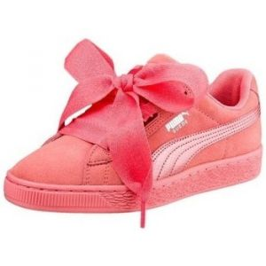 Puma Suede Heart SNK Jr, Sneakers Basses Fille, Rose (Shell Pink-Shell Pink), 38.5 EU