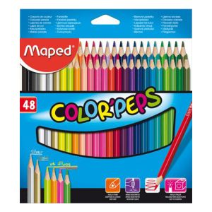 Maped Pochette de 48 Crayons Color'Peps