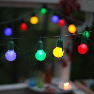 Party Light Guirlande extérieur LED 20 lumières multicolore à crochet L10,7m