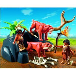 Playmobil 5102 - Tigres à dents de sabre et chasseurs