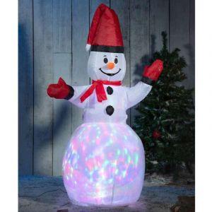 Homtech Bonhomme de neige 1,2m, gonflable et lumineux