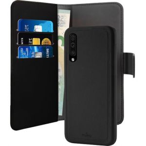 Puro Folio cuir detachable Noir Samsung Galaxy A50