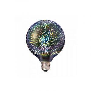 V-TAC VT-2223 Ampoule globe 3W smd E27 G125 blanc chaud 3000K verre chromé effet de lumière 3D - SKU 2706