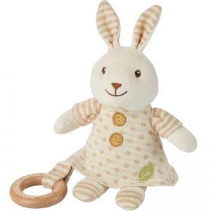 EverEarth EE33695 - Peluche lapin avec anneau en bois