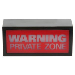 Wanted Lampe Warning Private Zone