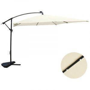 Concept-Usine Solenzara Bulle écru : parasol LED déporté 3x3m