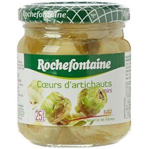 Rochefontaine Mini coeurs d'artichauts, calibre 10/20 - Le pot de 105g, poids net égoutté