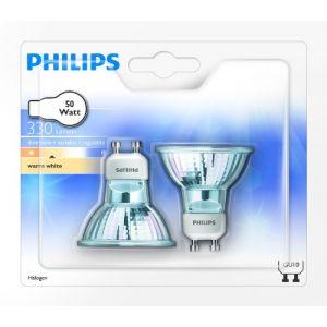 Philips 924713544287 - Hal-Twist Lot de 2 Ampoules Halogène Culot GU10 50 Watts