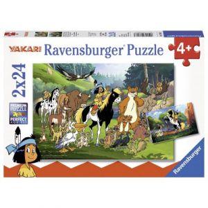 Ravensburger Les animaux amis de Yakari - Puzzle 2 x 24 pièces
