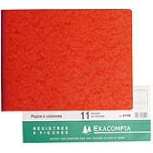 Exacompta Piqûre horizontal 11 colonnes 80 pages (250 x 320 mm)