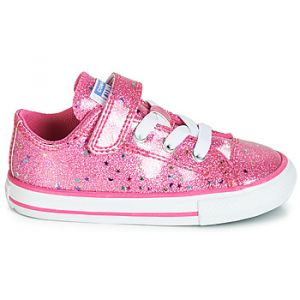 Converse Baskets basses enfant CHUCK TAYLOR ALL STAR 1V GALAXY GLIMMER OX rose - Taille 22,23,24,25,26