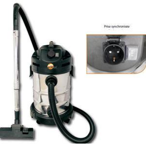 Leman LOASP301 - Aspirateur cuve inox avec sac 30 L